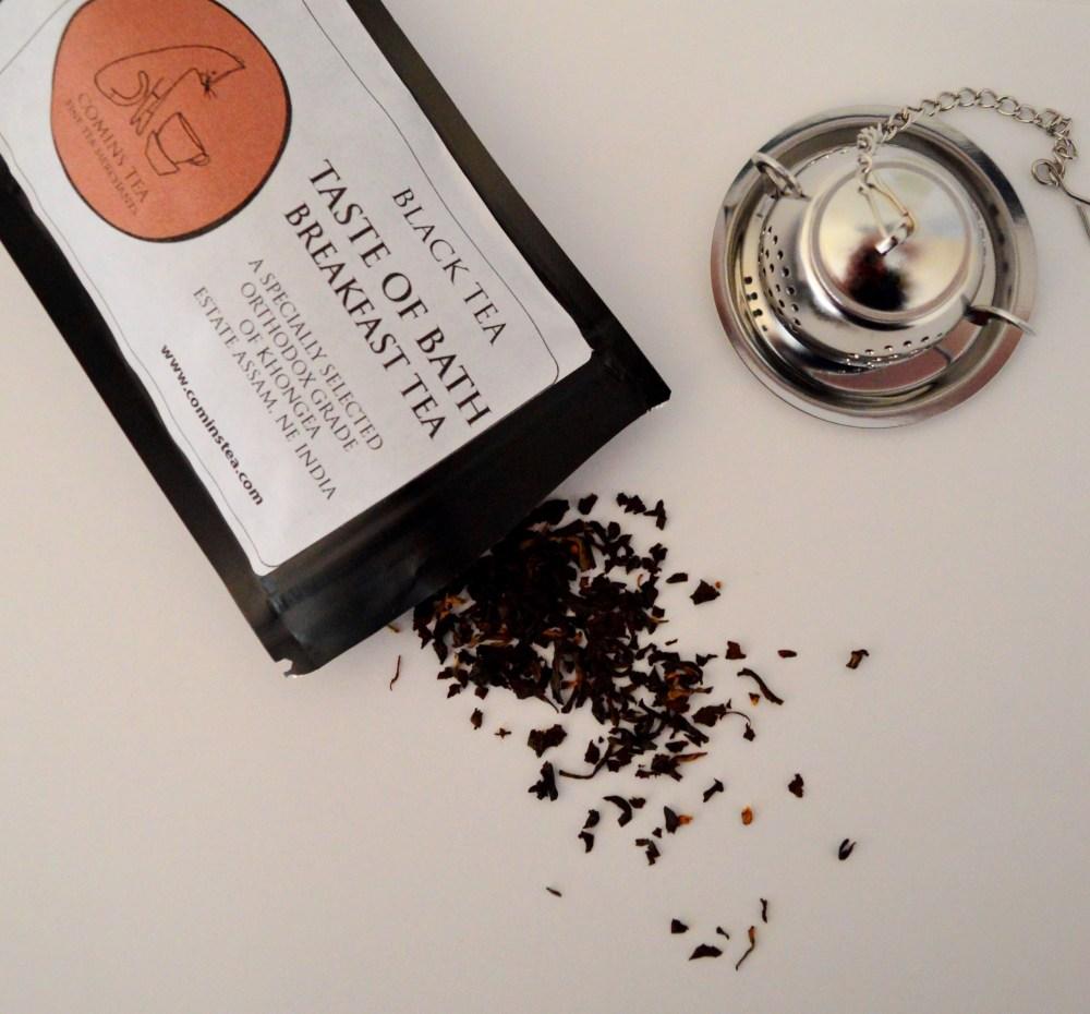 Tea scattered